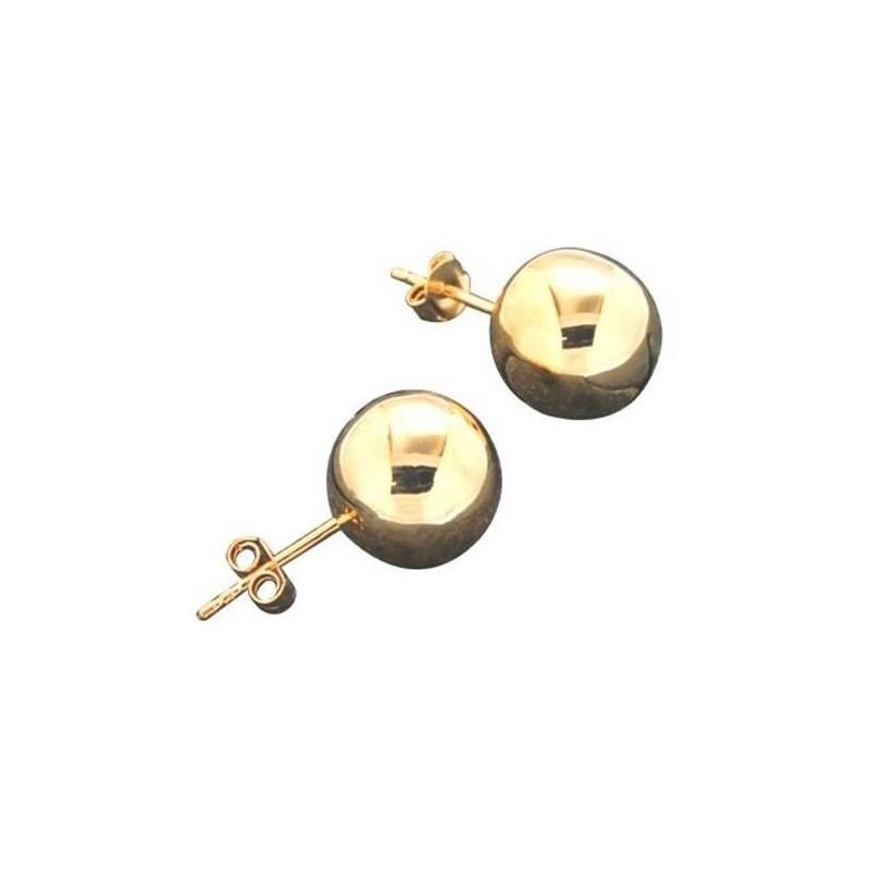 Boucles d'oreilles pour femme en plaqué or Louise Zoé, Fame 12 mm