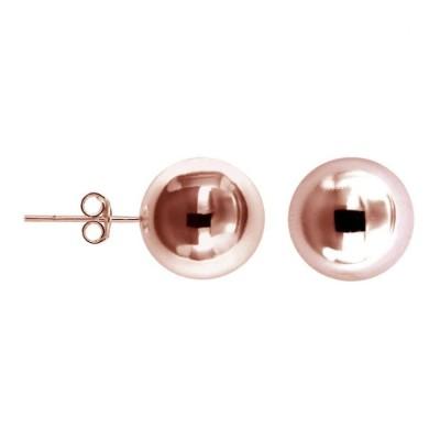 Boucles d'oreilles finition dorée rose LZ pour femme - Fame 12 mm - Lyn&Or Bijoux