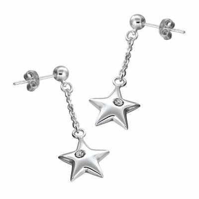 Boucles d'oreilles Etoiles argent, Swarovski pour femme - Astria - Lyn&Or Bijoux