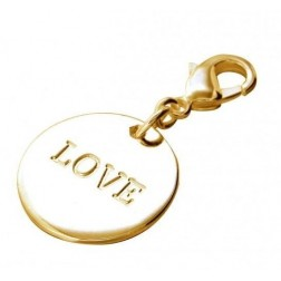 Charm tendance pour femme LZ en plaqué or - Médaille Love