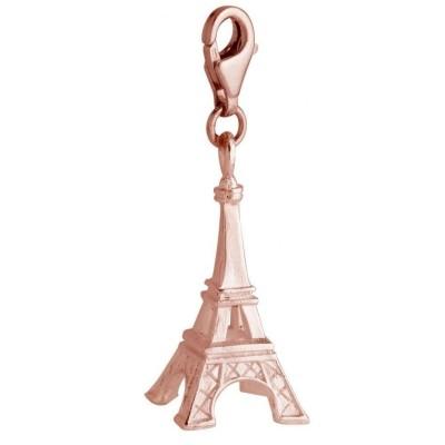 Charm ou breloque femme Zoé en plaqué or rose Paris, Tour Eiffel