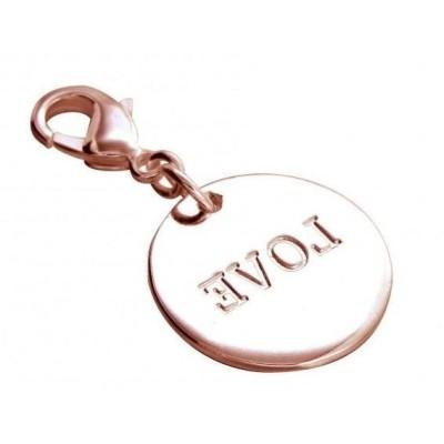 Charm bracelet femme, plaqué or rose, Zoé Bijoux, Médaille Love - Lyn&Or Bijoux