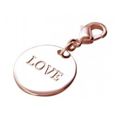 Charm en plaqué or rose Zoé Bijoux - Médaille Love