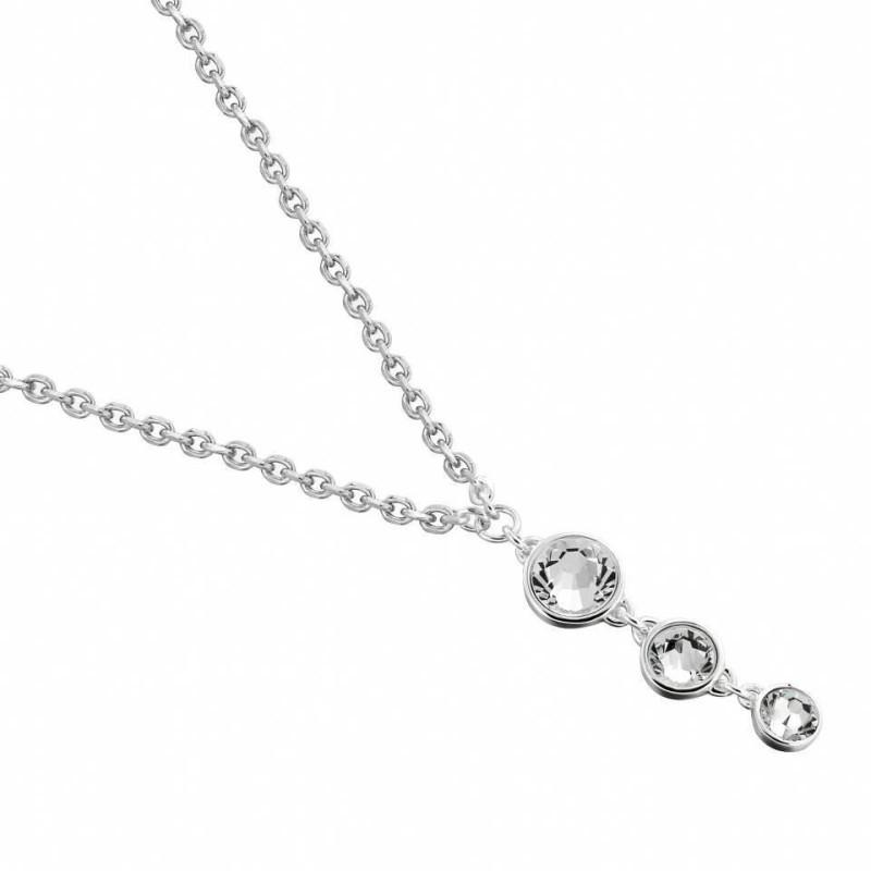 collier fantaisie femme en argent et cristal de Swarovski, Chute