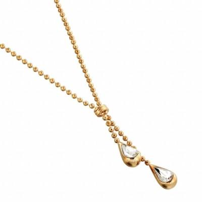 collier fantaisie femme plaqué or et cristal de Swarovski Louise Zoé - Gouttelettes