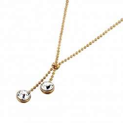 Collier finition dorée et Swarovski Zoé Bijoux pour femme - Sphères - Lyn&Or Bijoux