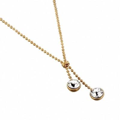 collier femme en plaqué or et cristal de Swarovski, Sphères