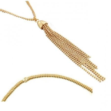 collier fantaisie sautoir femme plaqué or Zoé Bijoux, Pampilles