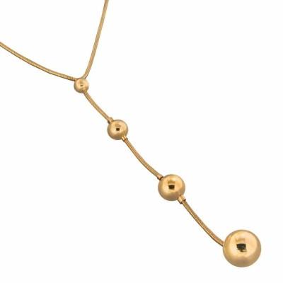 Collier créateur finition dorée LZB pour femme - Chute - Lyn&Or Bijoux