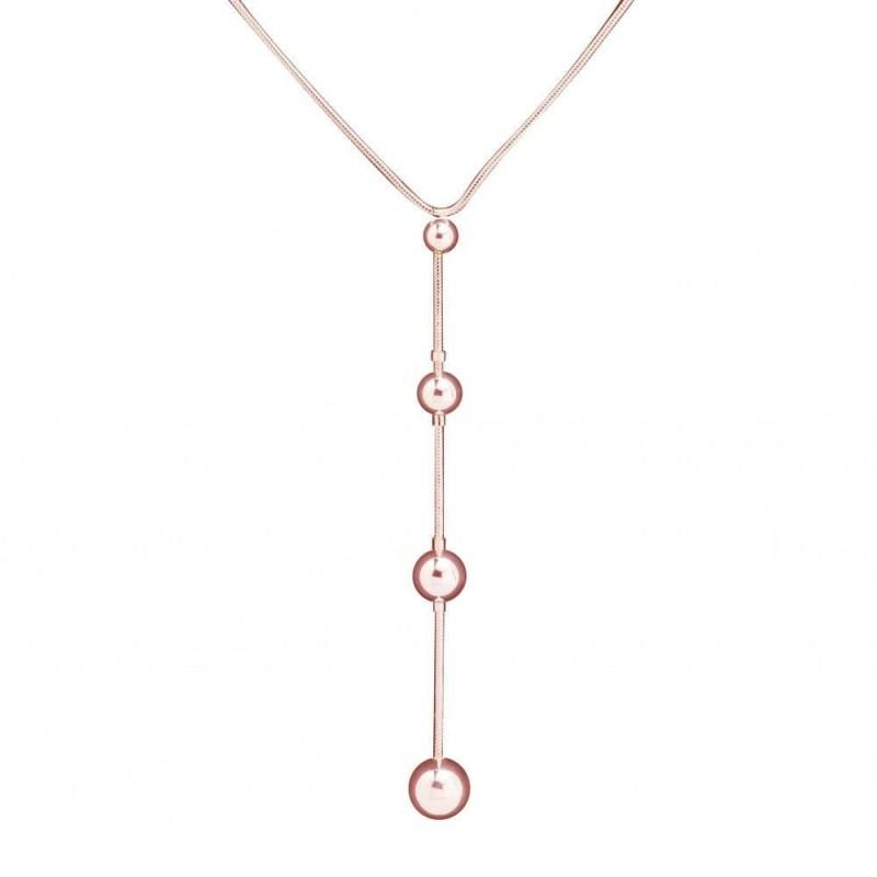 collier fantaisie pour femme en plaqué or rose Louise Zoé, Chute