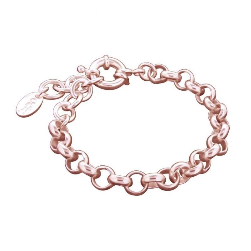 Bracelet gourmette pour femme en plaqué or rose, Jaseron