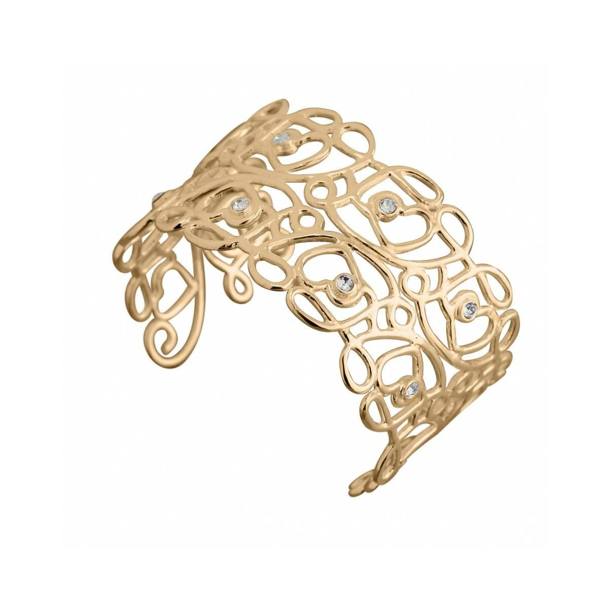 bracelet jonc tendance en plaqu or et cristal de. Black Bedroom Furniture Sets. Home Design Ideas