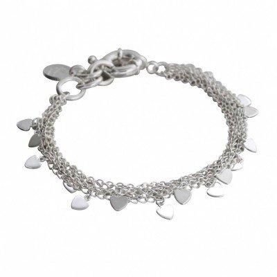 Bracelet coeur en argent Zoé Bijoux pour femme - Myriade - Lyn&Or Bijoux