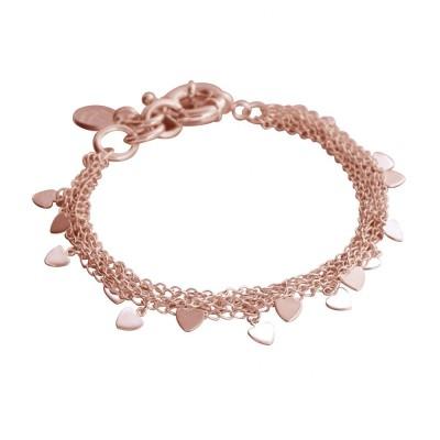 Bracelet coeur finition dorée rose LZ pour femme - Myriade - Lyn&Or Bijoux