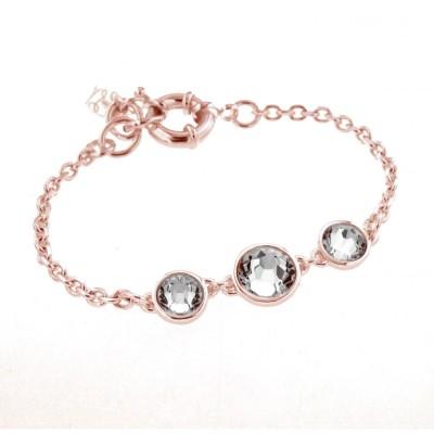 Bracelet Swarovski , finition dorée rose pour femme - Trystel - Lyn&Or Bijoux