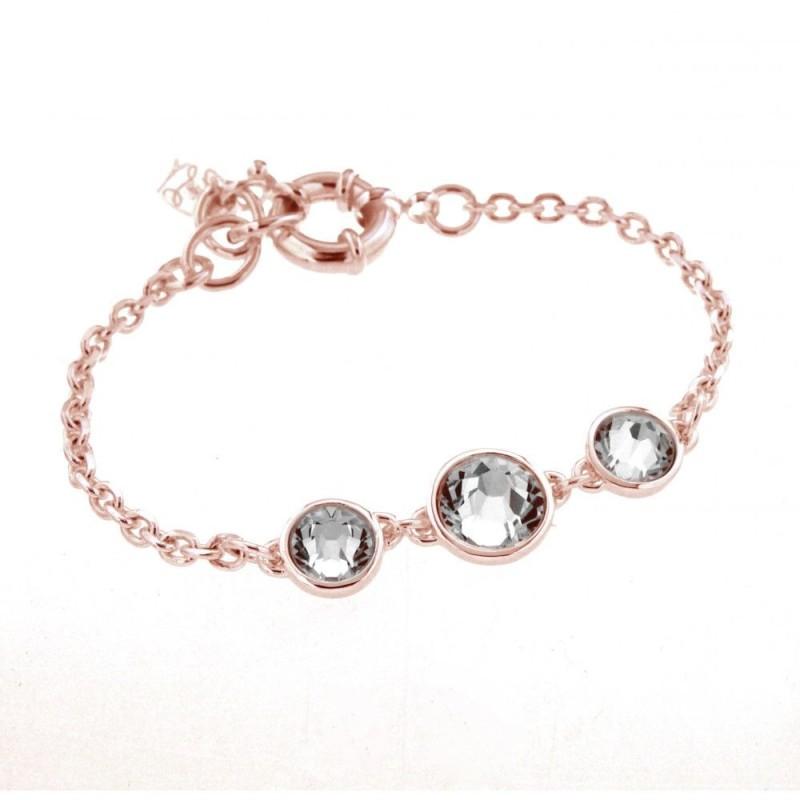 bracelet swarovski femme or rose
