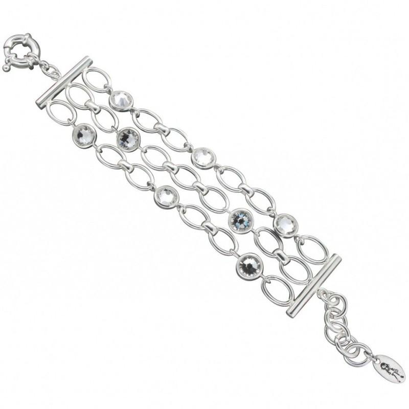 Bracelet en argent, Swarovski pour femme - Princesse - Lyn&Or Bijoux