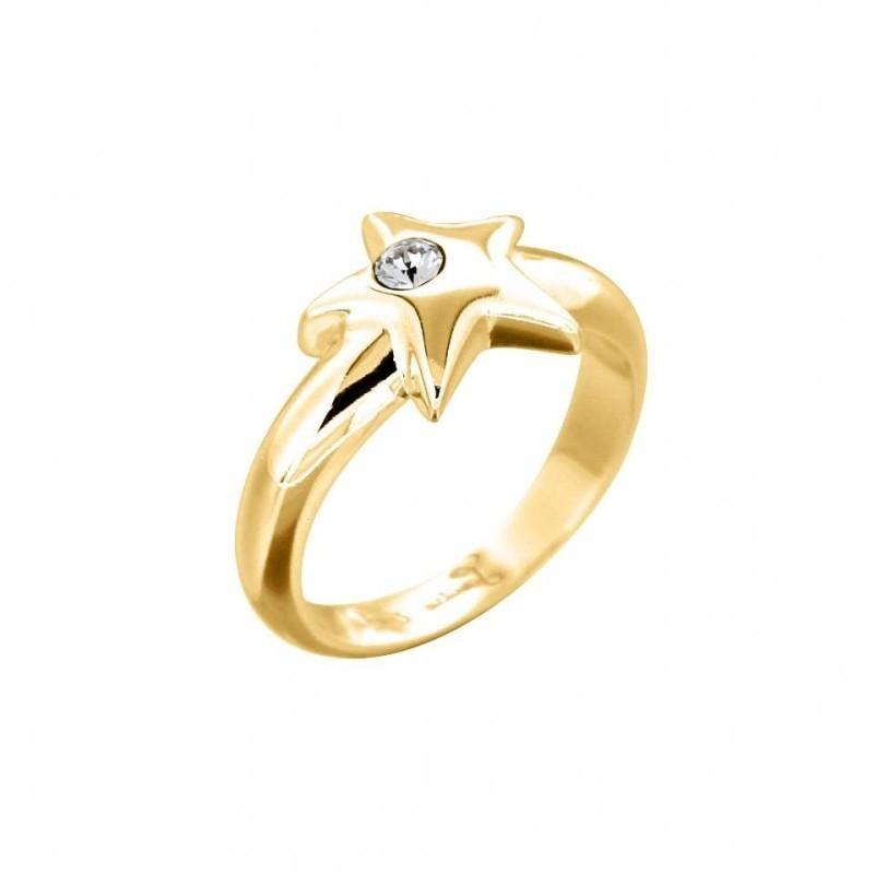 bague tendance pour femme plaqué or et cristal de Swarovski® Louise Zoé Bijoux, Etoilée