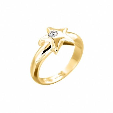 Bague en plaqué or et cristal de Swarovski® LZ - Etoilée