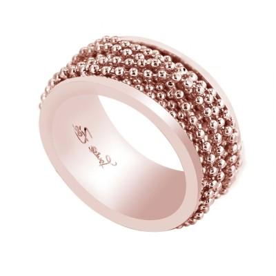 bague tendance pour femme en plaqué or rose Louise Zoé Bijoux - Eva