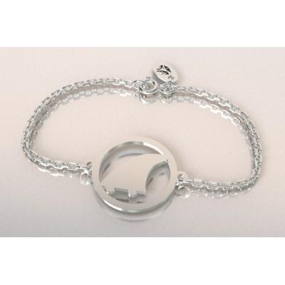Bracelet thème Surf en argent pour femme - Aileron - Lyn&Or Bijoux