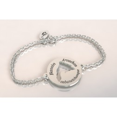 Bracelet créateur original bassin d'arcachon en argent 925