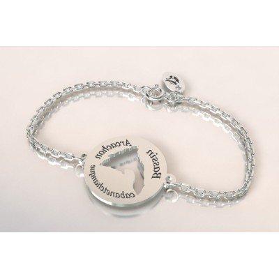 Bracelet créateur pour femme - Carte du Bassin D'Arcachon - Lyn&Or Bijoux