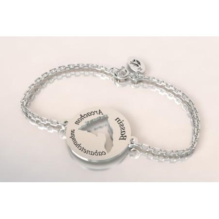 Bracelet de créateur en argent, unisexe - Bassin D'Arcachon