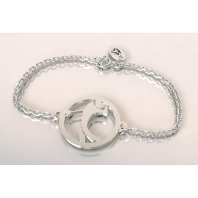 Bracelet thème golf en argent pour femme - Golfeur - Lyn&Or Bijoux