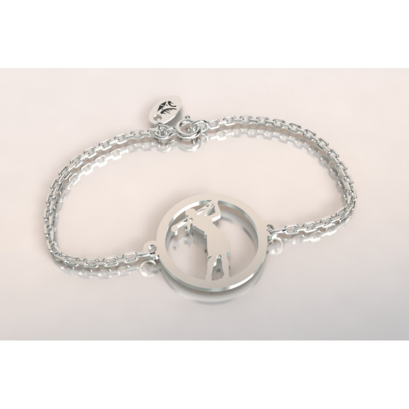 Bracelet créateur original mixte golfeuse argent