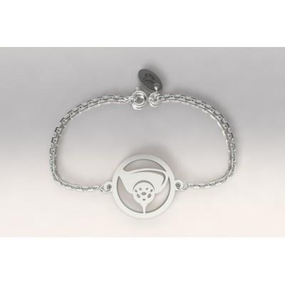Bracelet créateur original mixte balle de golf argent