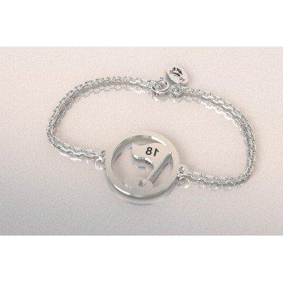 Bracelet Golf en argent pour femme - Drapeau - Lyn&Or Bijoux