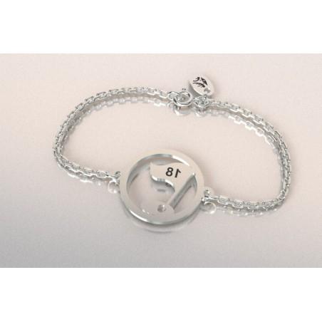 Bracelet créateur en argent - Golf - Drapeau