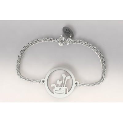 Bracelet Golf en argent pour femme - Sac et clubs - Lyn&Or Bijoux