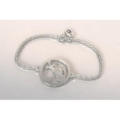 Bracelet créateur original sac de golf en argent 925