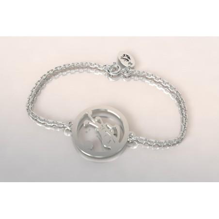 Bracelet créateur original mixte sac de golf argent