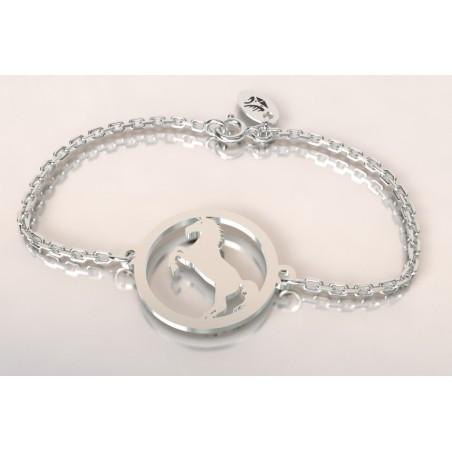 Bracelet créateur original cheval cabré en argent 925