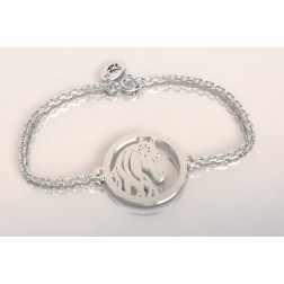 Bracelet créateur original tête de cheval en argent 925