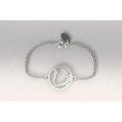 Bracelet de créateur en argent pour femme - Surfeuse Longboard - Lyn&Or Bijoux
