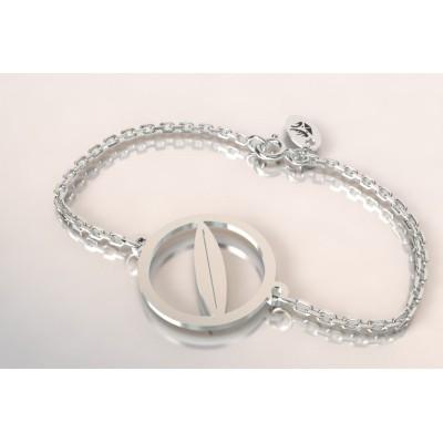 Bracelet plahe de surf en argent pour femme, bijou de créateur