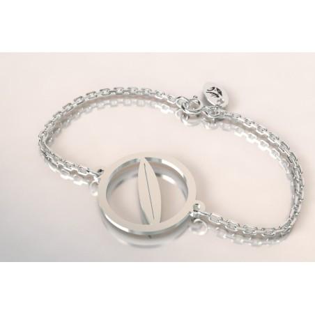 Bracelet créateur original mixte planche de surf argent