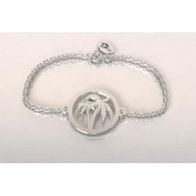 Bracelet créateur original pour femme et homme cocotier en argent