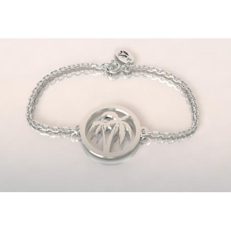 Bracelet créateur original femme et homme cocotier argent