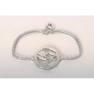 Bracelet créateur pour femme, lunettes de soleil en argent
