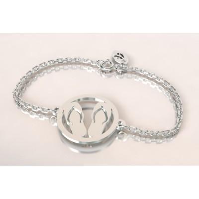 Bracelet créateur en argent pour femme - Paire de tongues - Lyn&Or Bijoux
