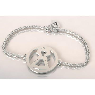 Bracelet créateur original alsacienne en argent 925