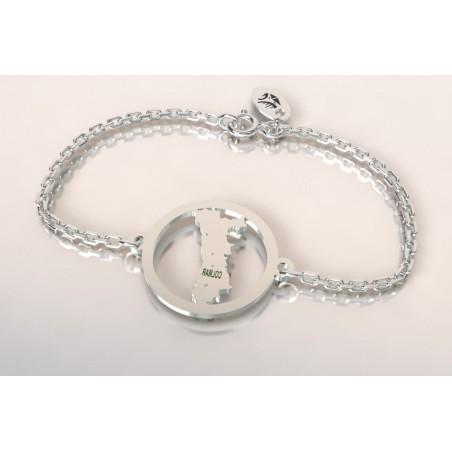 Bracelet créateur original mixte Alsace argent