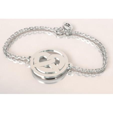 Bracelet créateur original mixte Bretzel argent