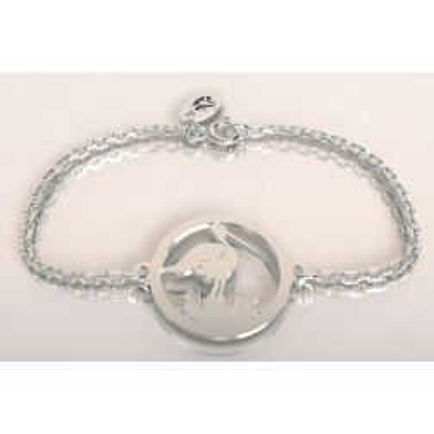 Bracelet en argent pour femme - Cigogne dans son nid - Lyn&Or Bijoux