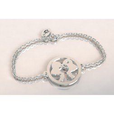 Bracelet créateur en argent pour femme - Coiffe alsacienne - Lyn&Or Bijoux